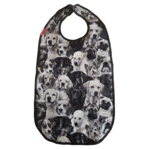 Bib for eating Black and white Dogs ZOO design