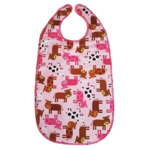 Bib for eating Cows   Pink ZOO design
